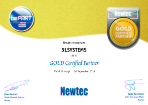 3LSystems Newtec gold certificate